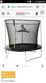 8 ft plumb trampoline and enclosure