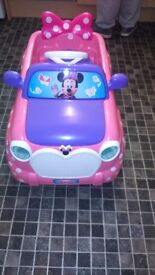 minnie mouse ride on car v6