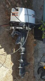 SOUTHMINSTER ESSEX - £60 ONO BOAT ENGINE-20hp JOHNSON-2 STROKE SPARES & REPAIRS