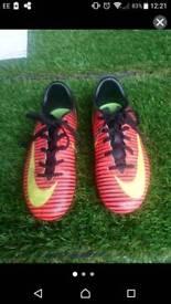 Kidz Nike mercurial boots UK size 13