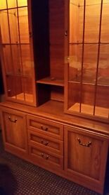 25.00 Today collect..Very nice DISPLAY CABINET WITH LIGHT