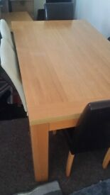 Large Solid Dining/Living room table + 4 Chairs RRP £450