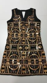 Blanco Black Mini Dress with Sequins - S Size (NWT)
