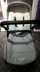 Nearly new easywalker mini mosey pushchair stroller ice blue can post