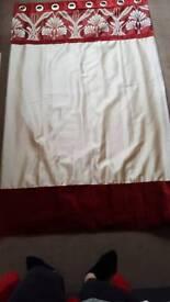 """Curtains red/cream 90"""" x 72"""""""