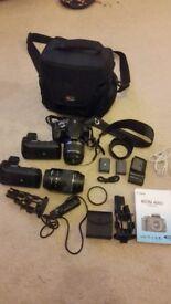 Canon 400D + 2lenses + accessories