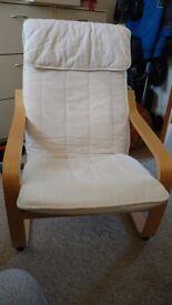 Cream IKEA lounging chair