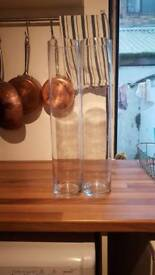 20 x 50cm Tall cylinder glass vases