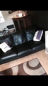 3 seater lazy boy leather sofa