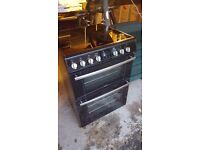 Belling double oven, black, good condition
