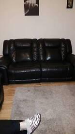 Black leather sofas