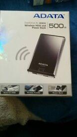 ADATA AE800 500GB Wireless HDD & Power Bank