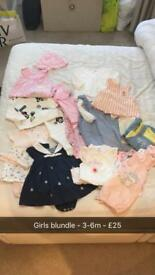 Baby girl bundle 3-6m