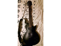 Epiphone Les Paul Gothic Electric Guitar with amp