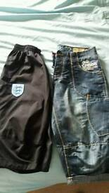 Crosshatch and Umbro/England long shorts