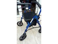 4 wheel blue walking aid