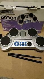Four pad electronic drum kit