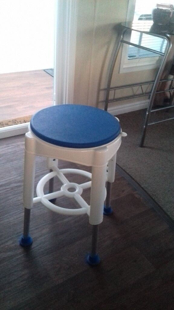 Shower stool swivel seat height adjustable. As new unboxed but not ...