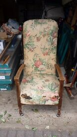 Cottage armchair. Needs reupholstering but otherwise in good condition. Buyer collects
