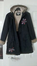 Girls Black Coat, John Rocha design, age 12 years, good condition