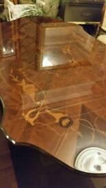Stunning deep polished dining table