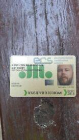 Jib qualified Electrician Gold card