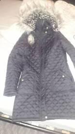 Womans Puffa Coat Size 10