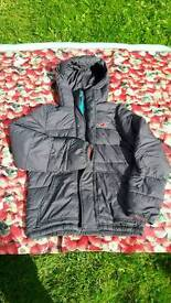Hollister mens grey padded coat size L