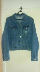 Top shop embroidered denim jacket size 10