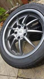 """Antera 17"""" Alloy Wheels Staggered"""