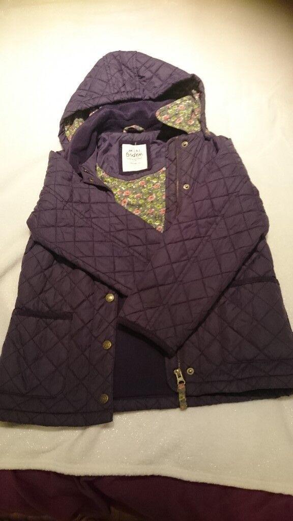Girls Boden Purple Quilted Coat In Saltdean East Sussex Gumtree
