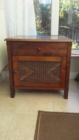 Cabinet, solid wood with drawer and cupboard
