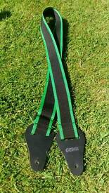 Guitar strap green and black excellent condition and quality