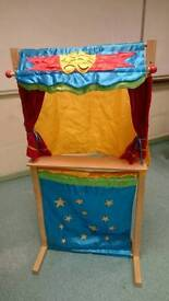 Puppet stand with puppets