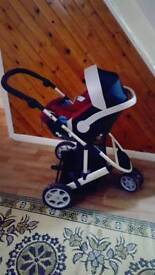 Cybex aton car seat and mamad and papas zoom