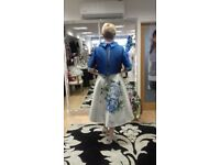 Mother of the bride complete outfit Stunning royal blue and siler gown with matching jacket