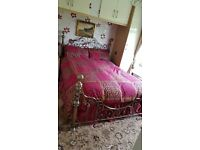Double victoriana gold bed frame