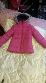 Pink Winter Coat size 6-7 years Marks and Spencer