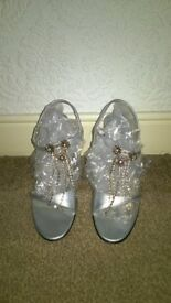 Ladies sliver shoes