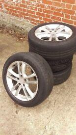 Audi Autec Yucon 17 inch 5x112 wheels, tyres 225 50