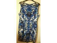 blue leopard print dress
