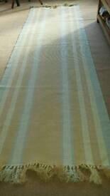 Striped hallway rug