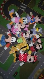 Small disney mickey mouse soft toy's bundle.....