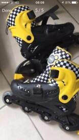 Roller skates light up adjustable sizing fit 13-3
