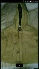 Boys winter coat age 12 - 18 months