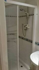 3 piece ensuite - shower, sink, toilet and accessories