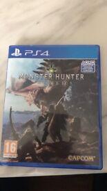 Monster Hunter world and battlefield 1 ps4