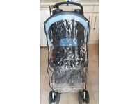 Hauck Shopper Pushchair- includes 2 part zipped foot muff & full raincover