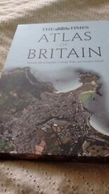 The Times Atlas of Britain, hardback. Detailed map & geographical information. Never looked at.