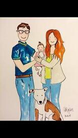 Custom Made Family Portraits 💗